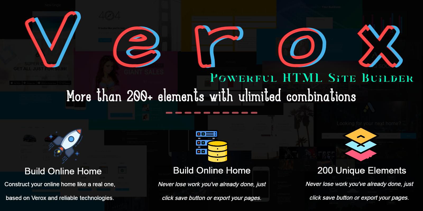 Verox - Powerful HTML Site Builder