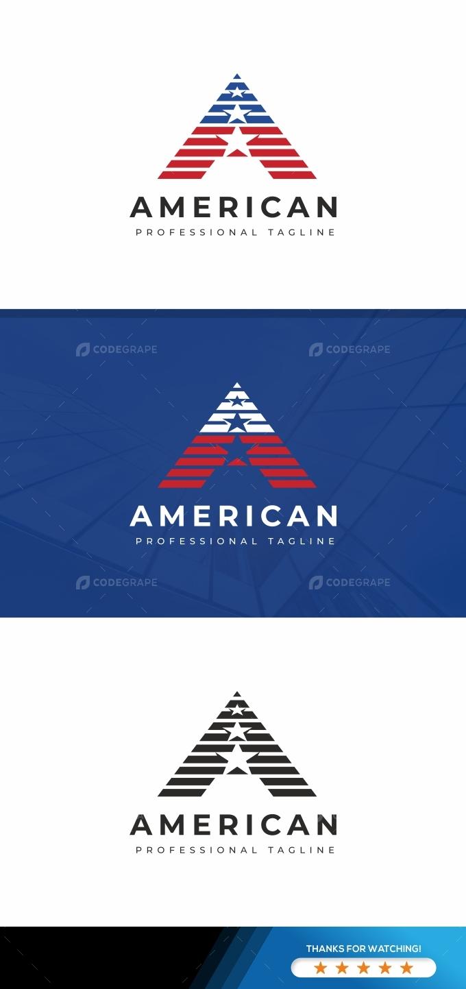 American A Letter Logo