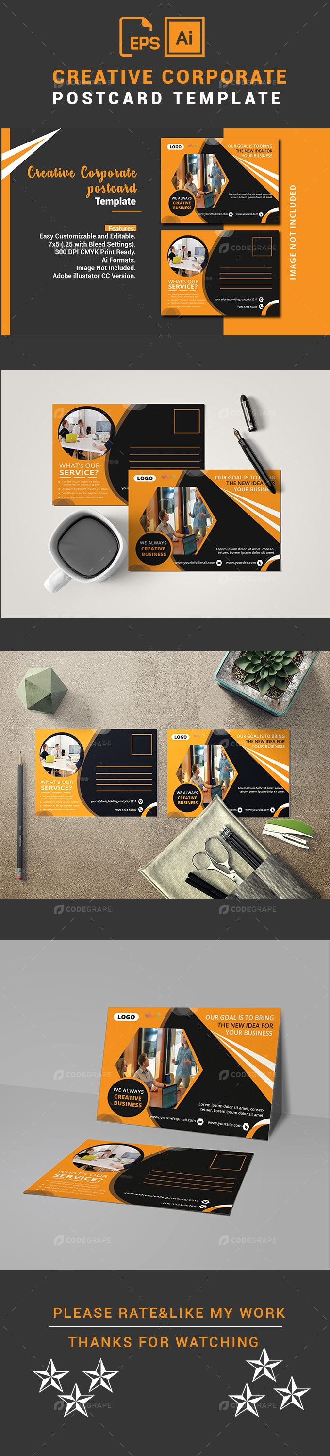 Creative Corporate Postcard Template
