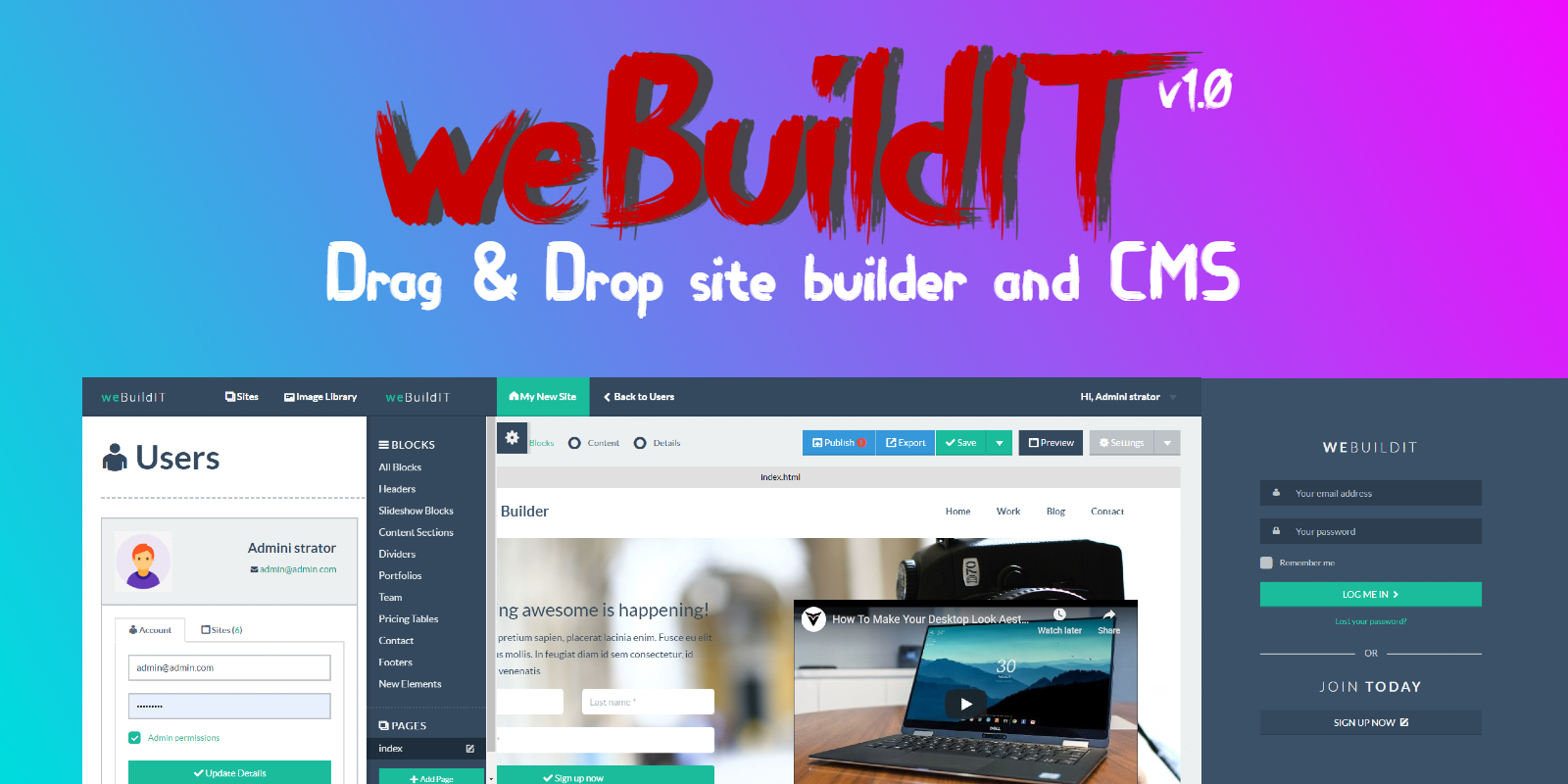 weBuildIT - Drag And Drop Site Builder And CMS