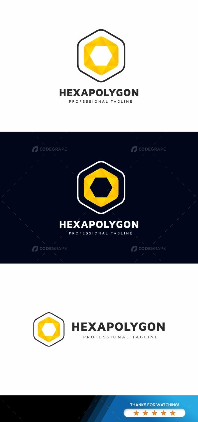 Hexagon Polygon Logo