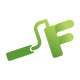 F Letter Construction Logo