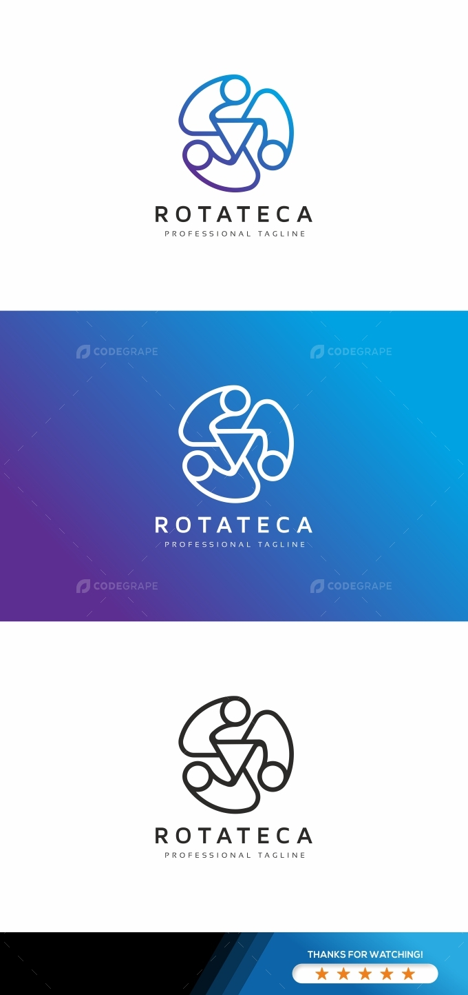 Rotation Abstract Logo Template