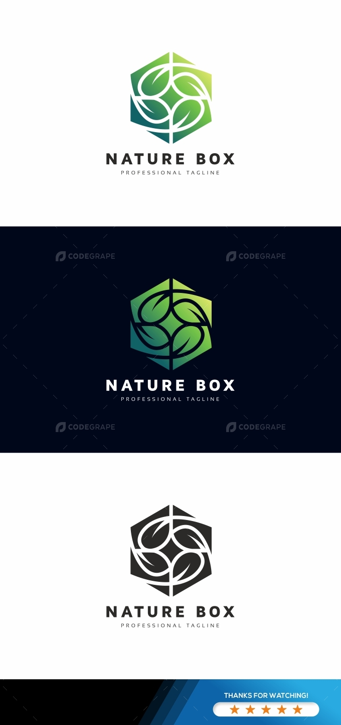 Nature Box Logo Template