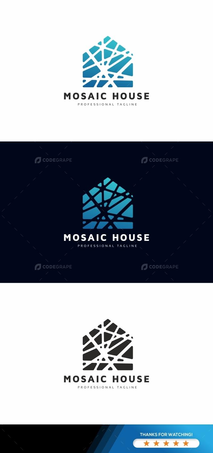 Mosaic House Logo Template