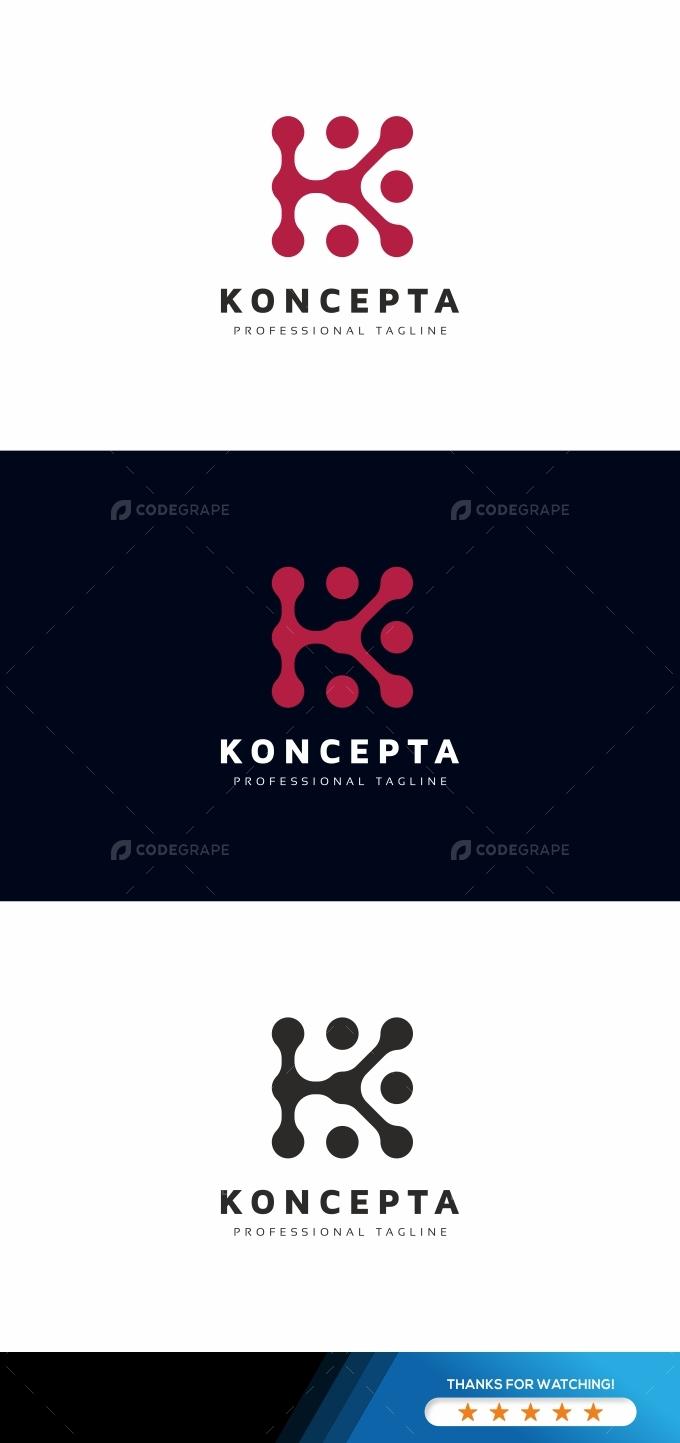 K Letter Logo Template