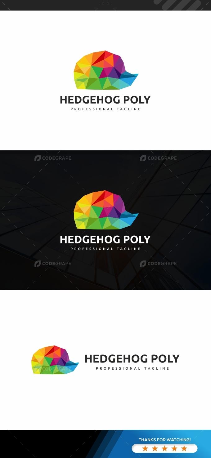 Hedgehog Colorful Logo Template