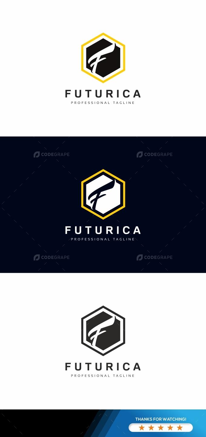 Futurica F Letter Logo Template