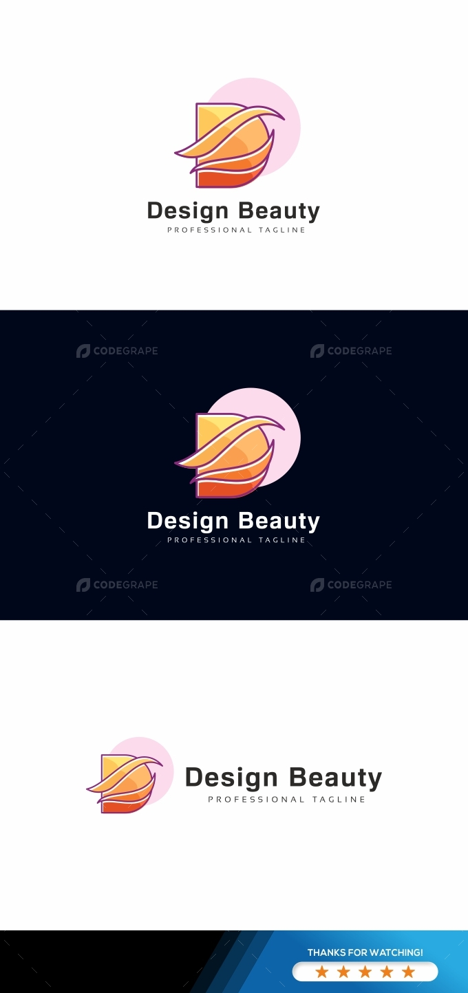 Design Beauty D Letter Logo Template