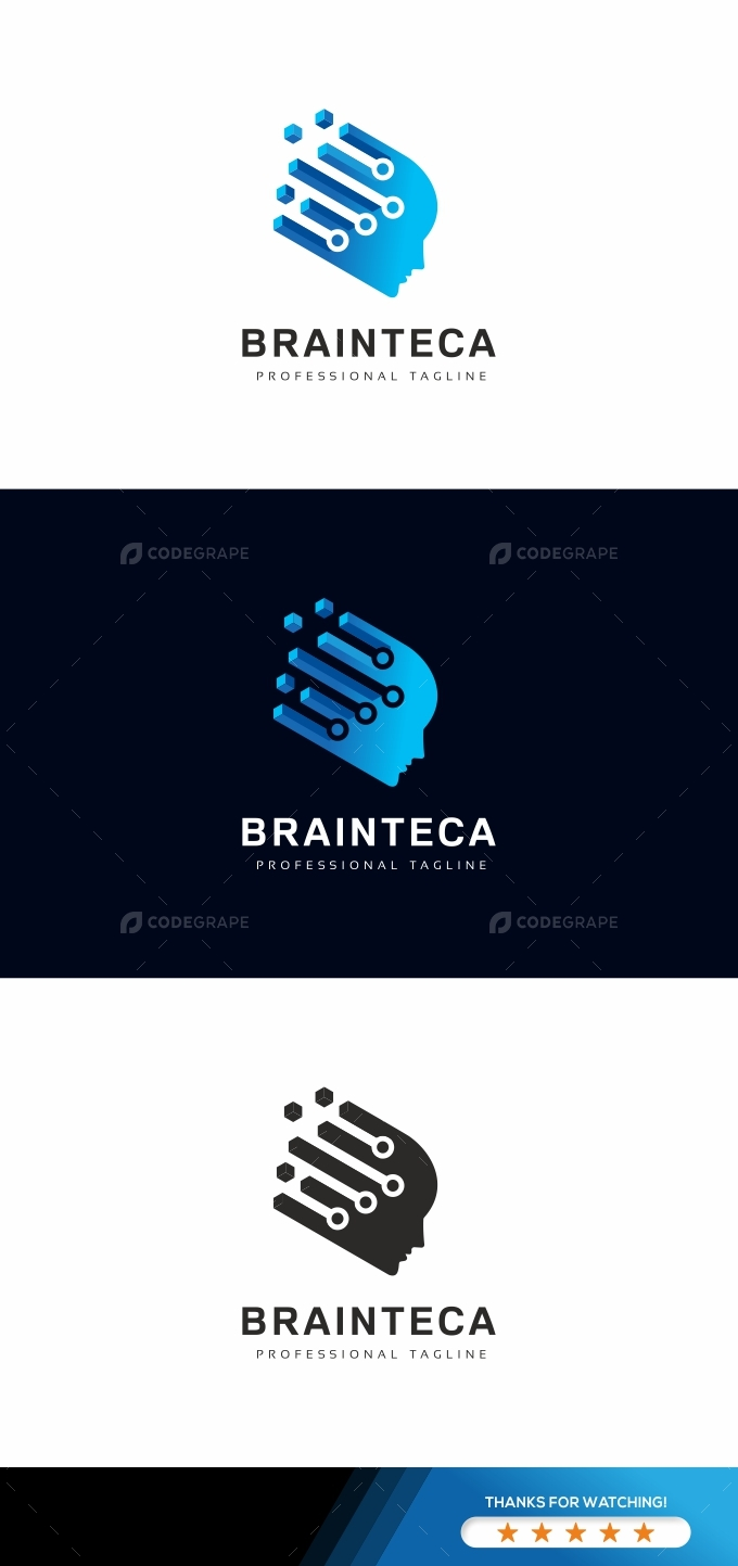 Brain Tech Logo Template