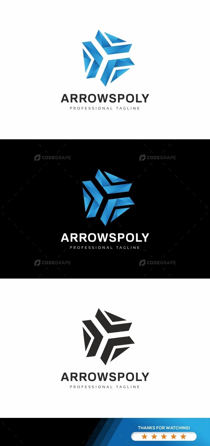 Arrows Polygon Logo Template