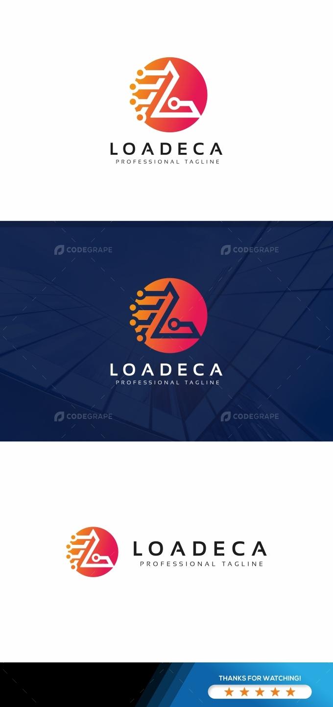 L Letter Tech Logo