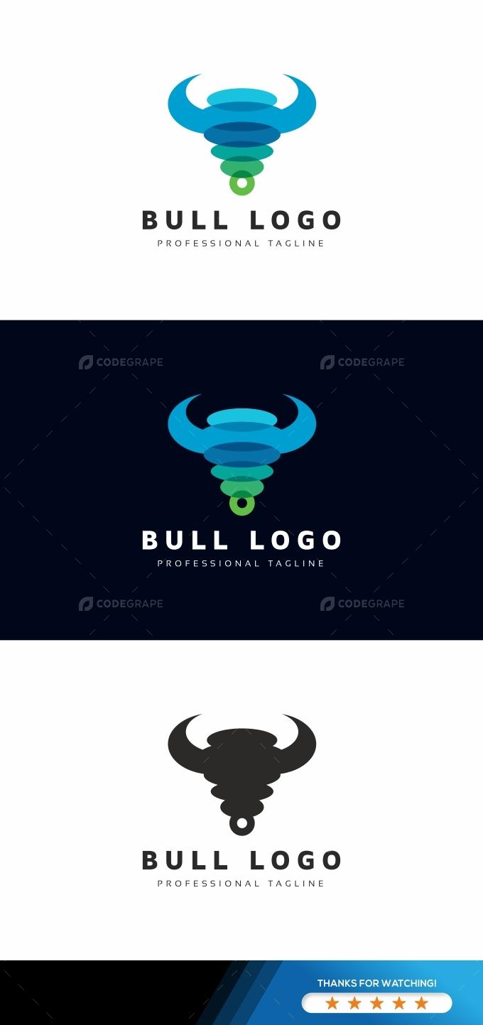 Bull Colorful Logo