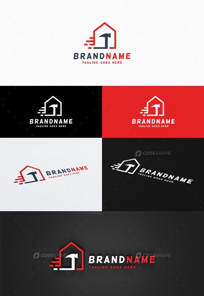 Fast House Repair Logo