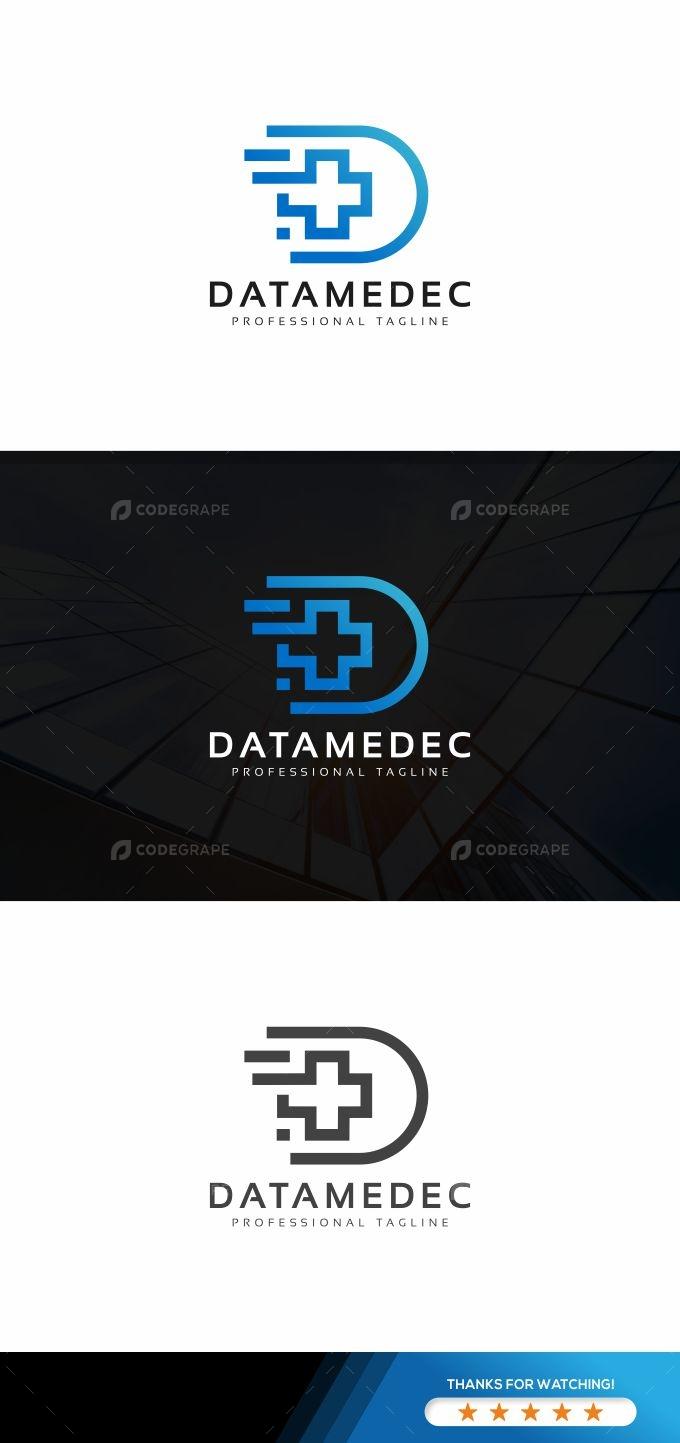 Data Medical Cross Logo