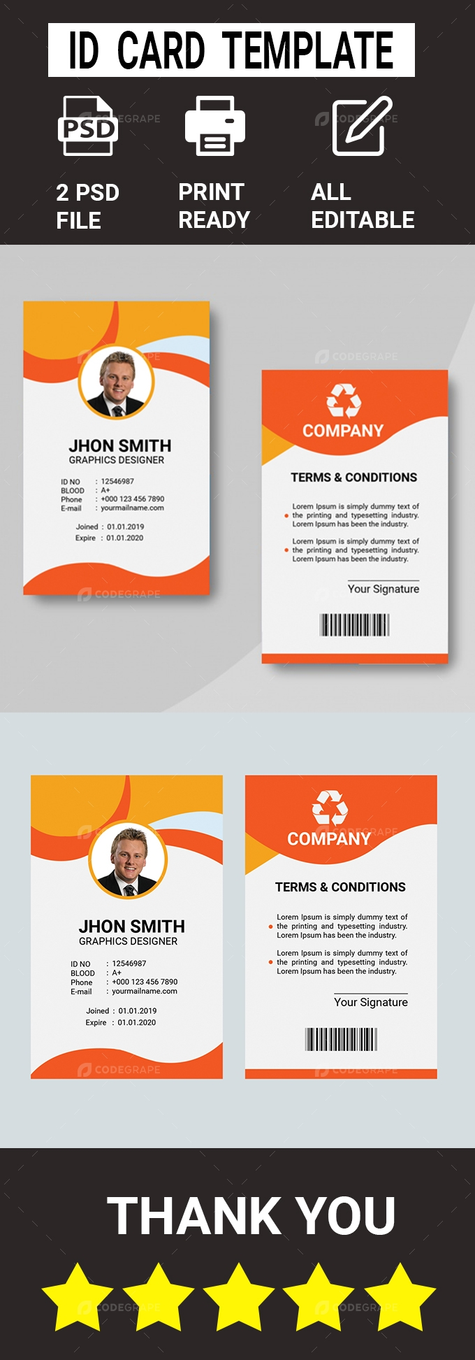 ID card Template Design
