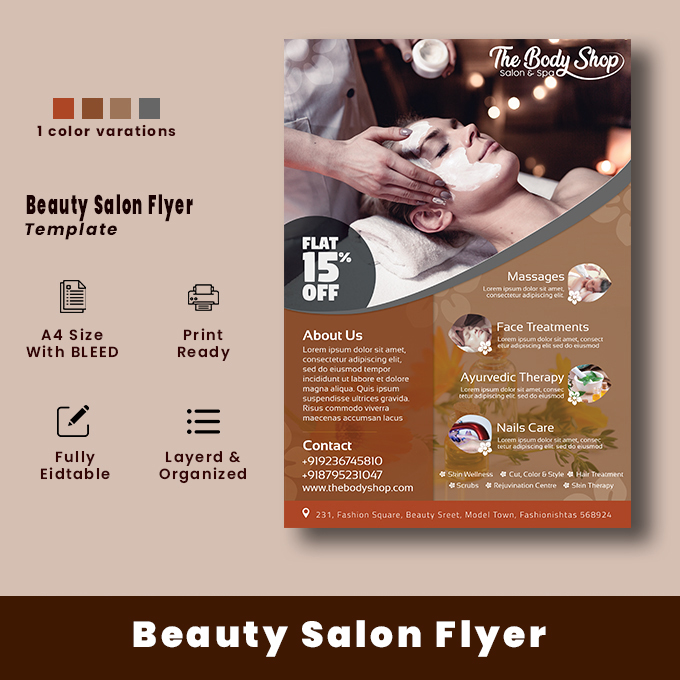 The Body Shop Salon and Spa Flyer Template