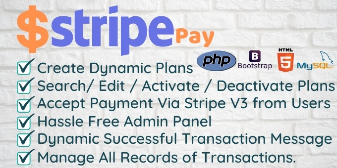 Stripe Pay - Create Dynamic Plan and Accept Payments