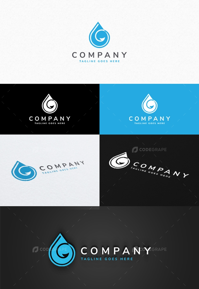 Drop Hook Logo Template