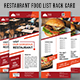 Restaurant Food List Rack Card