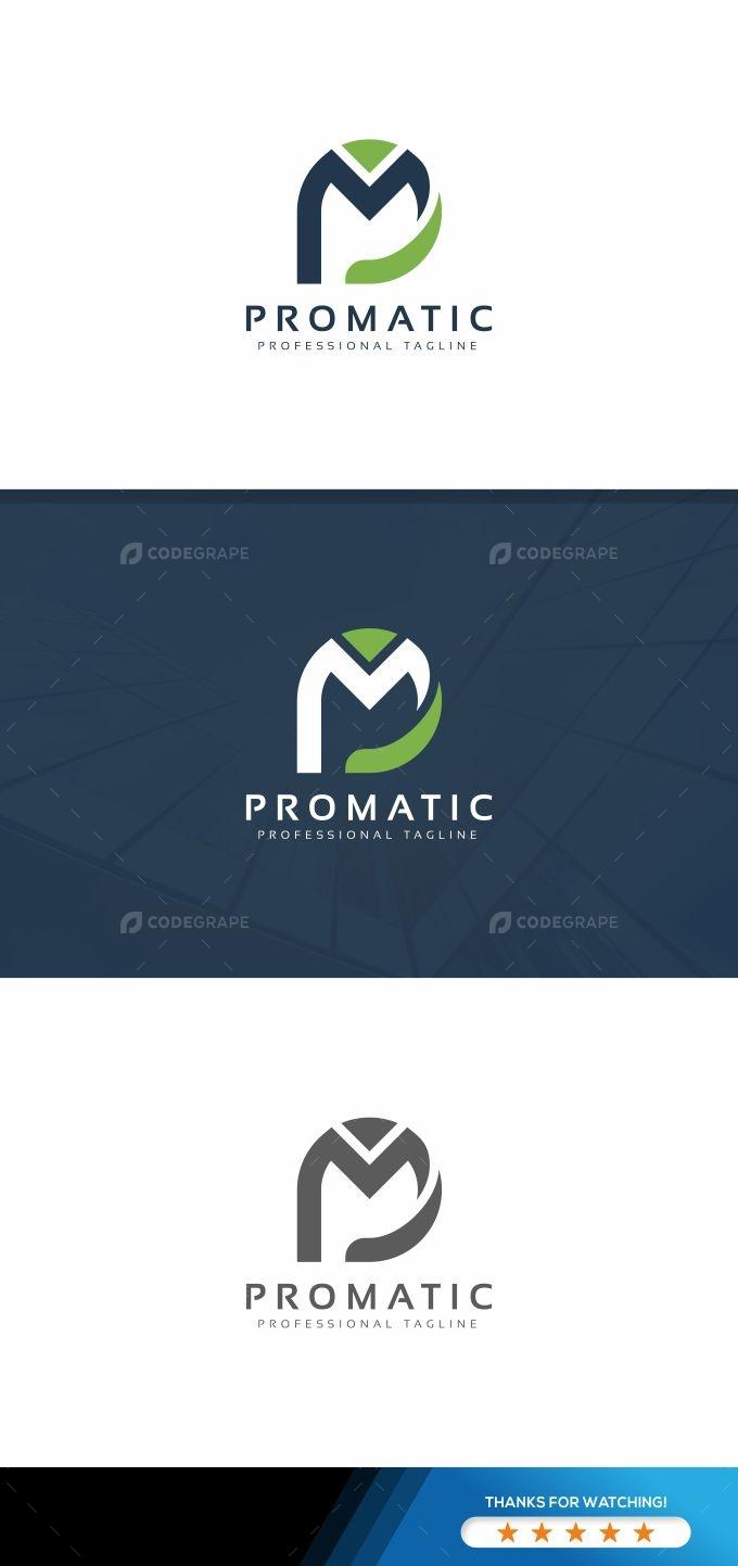 Promatic P Letter Logo
