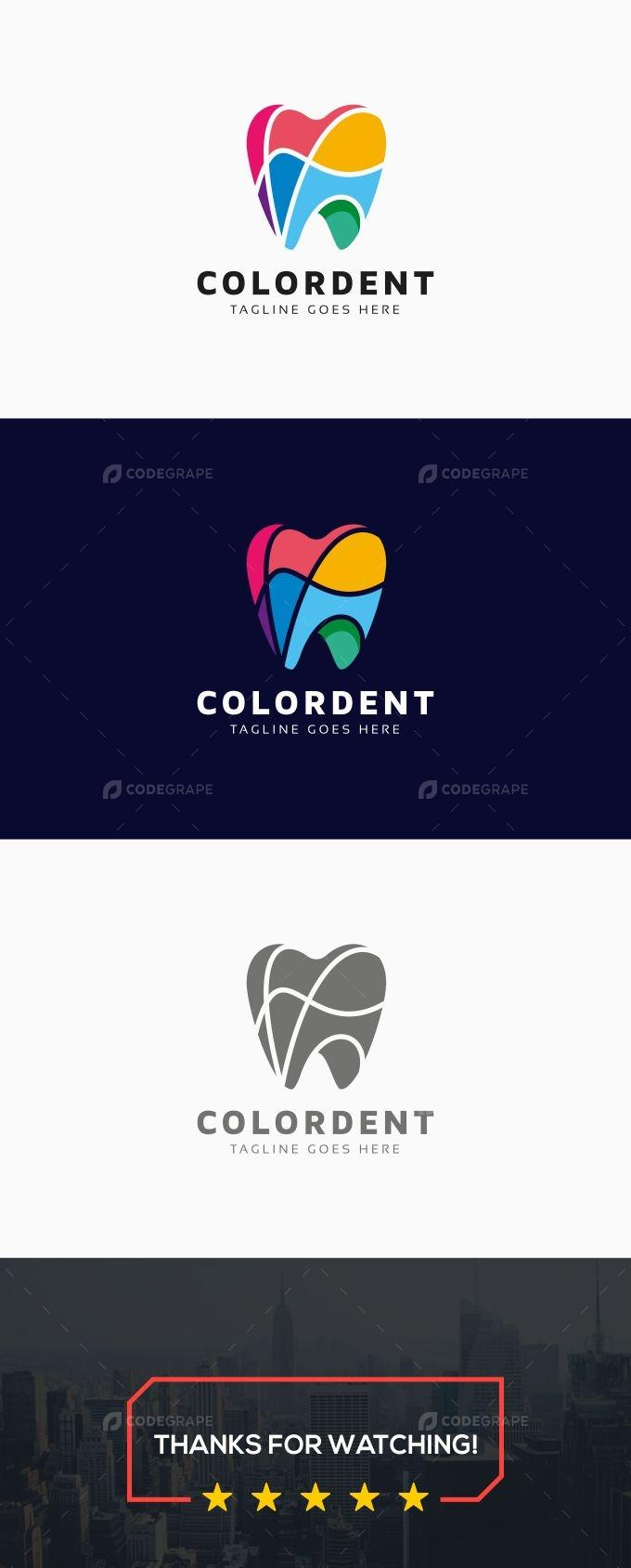 Colorful Dental Logo