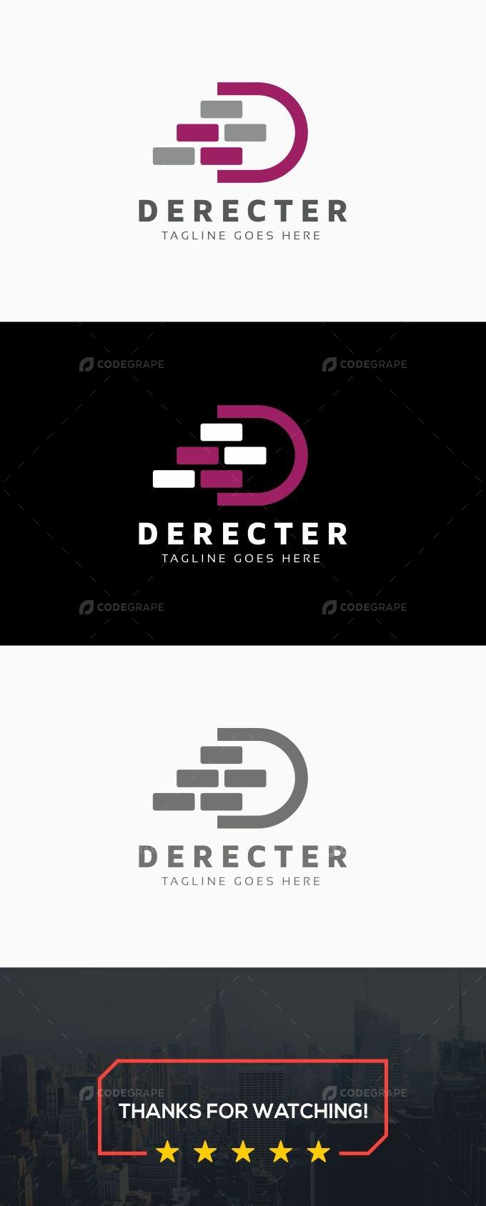 Construction D Letter Logo