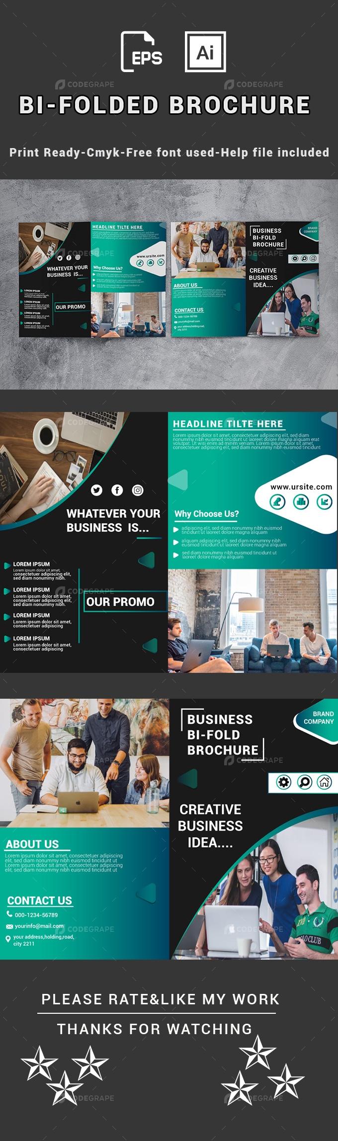 Bi-Folded Corporate Brochure