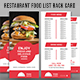 Restaurant Food Menu Rack Card Template
