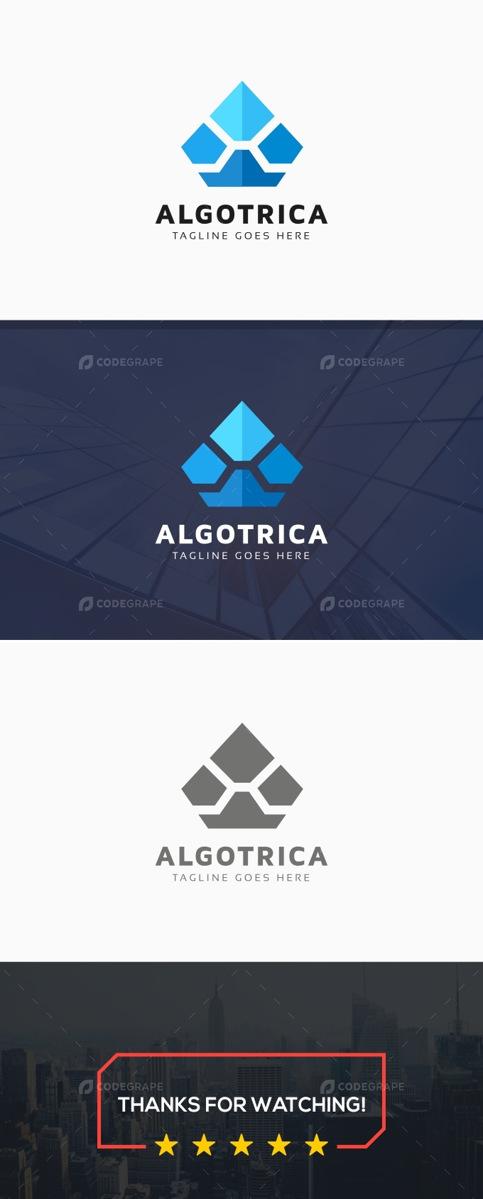 Algotrica A Letter Logo