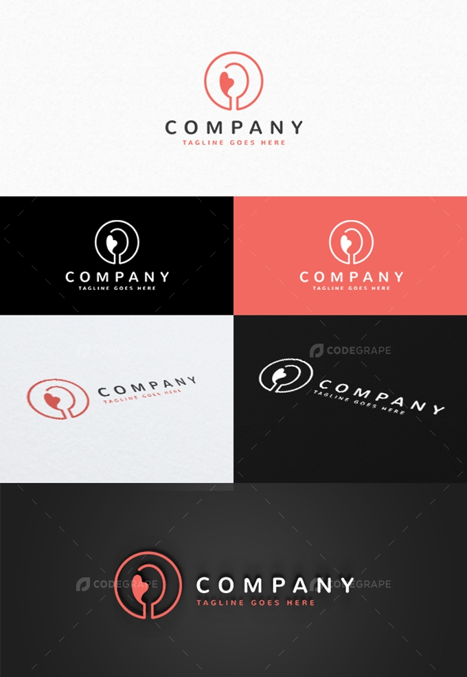 Love Food Logo Template