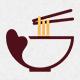 Noodles Love Logo Template