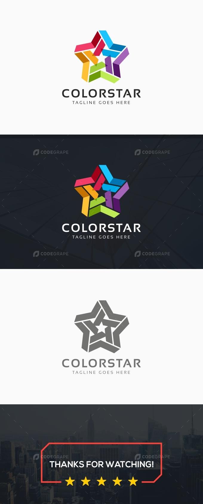 Creative Colorful Star Logo