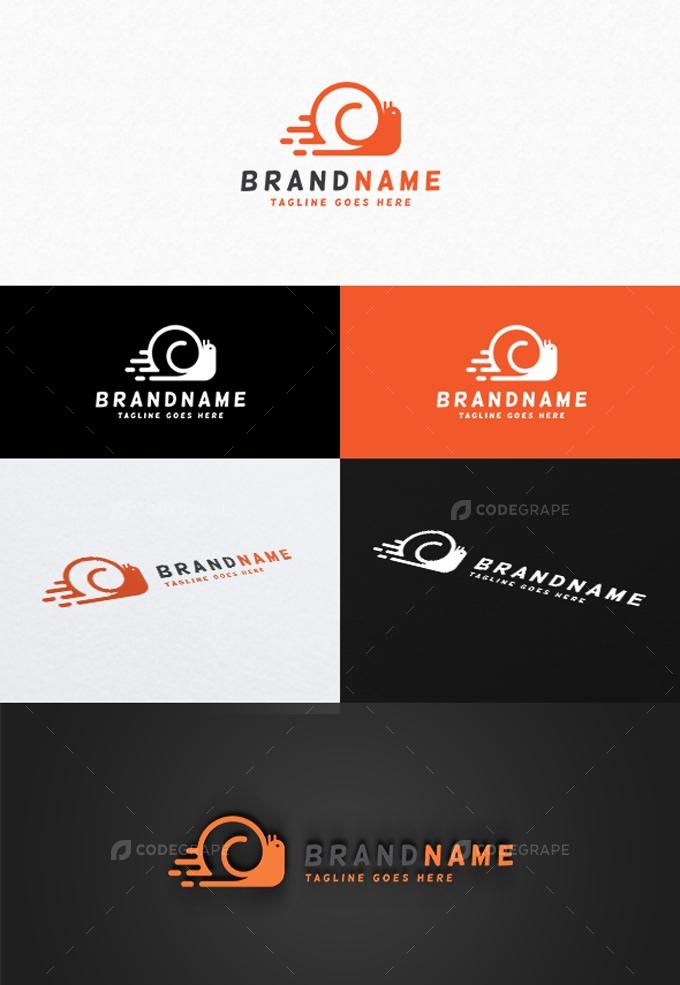 Speed Snail Logo Template