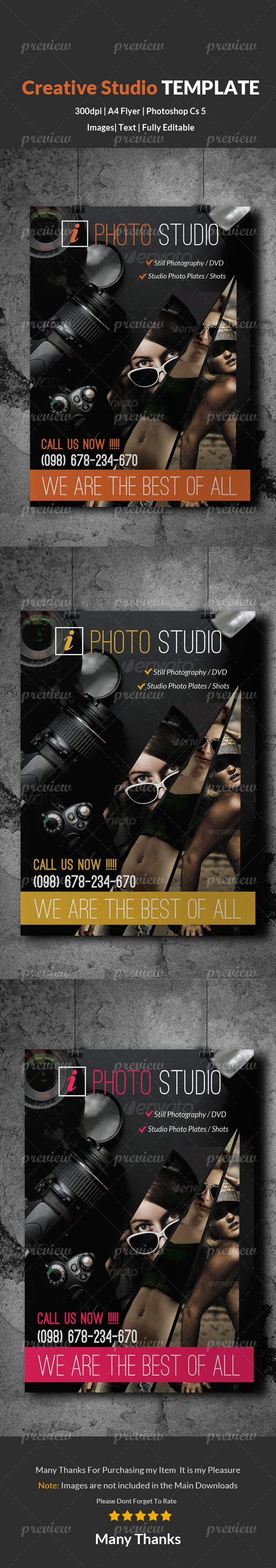 Photography & Photo Studio Flyer Template