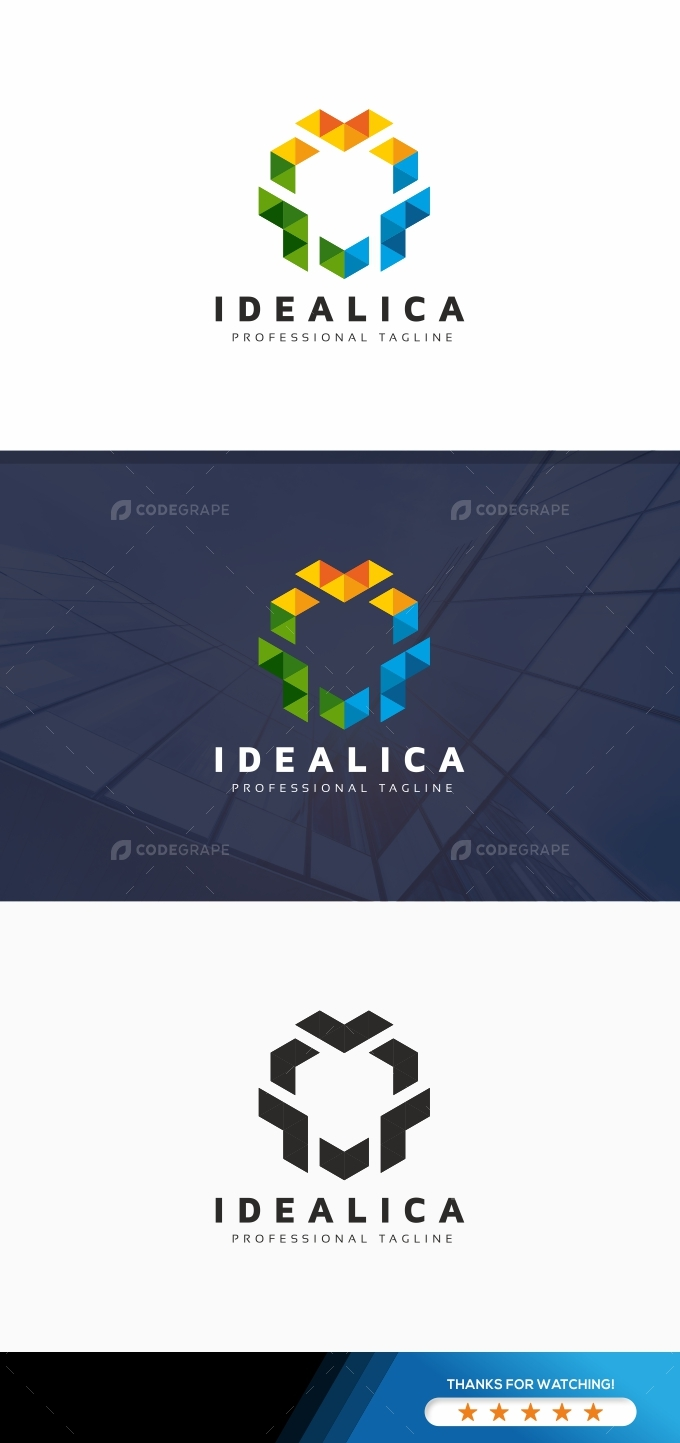 Creative Hexagon Polygon Logo