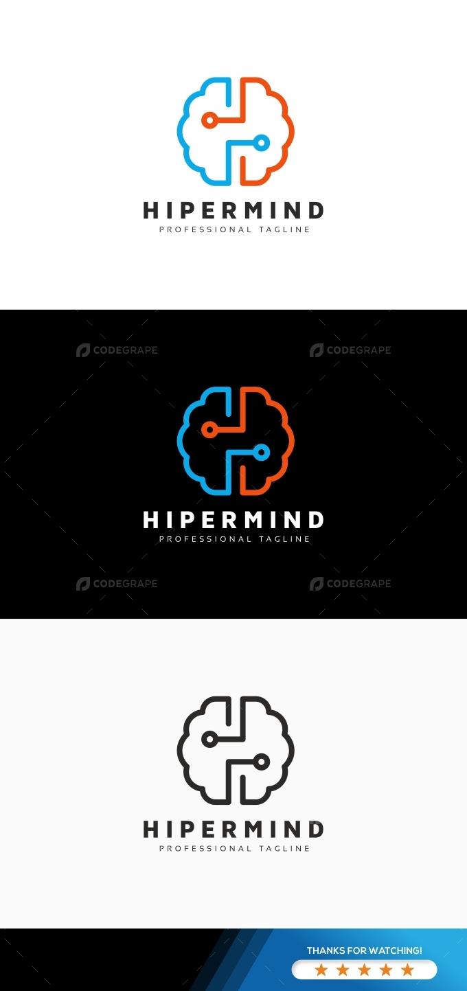 Mind H Letter Logo