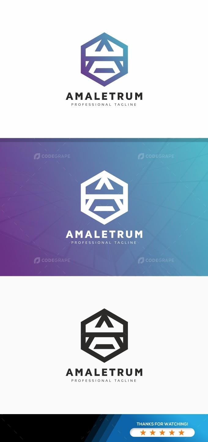 Letter A Hexagon Logo