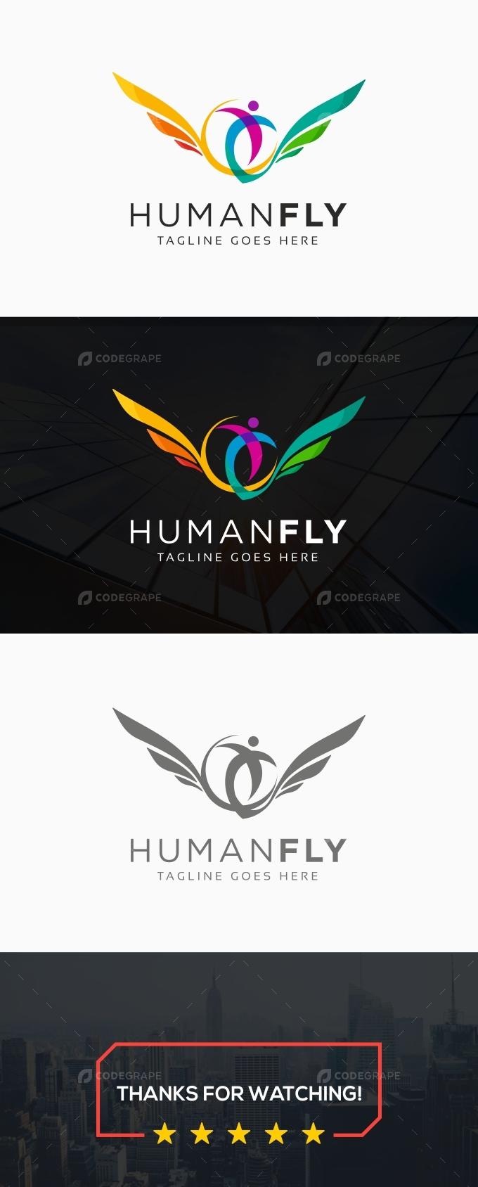 Human Fly Logo