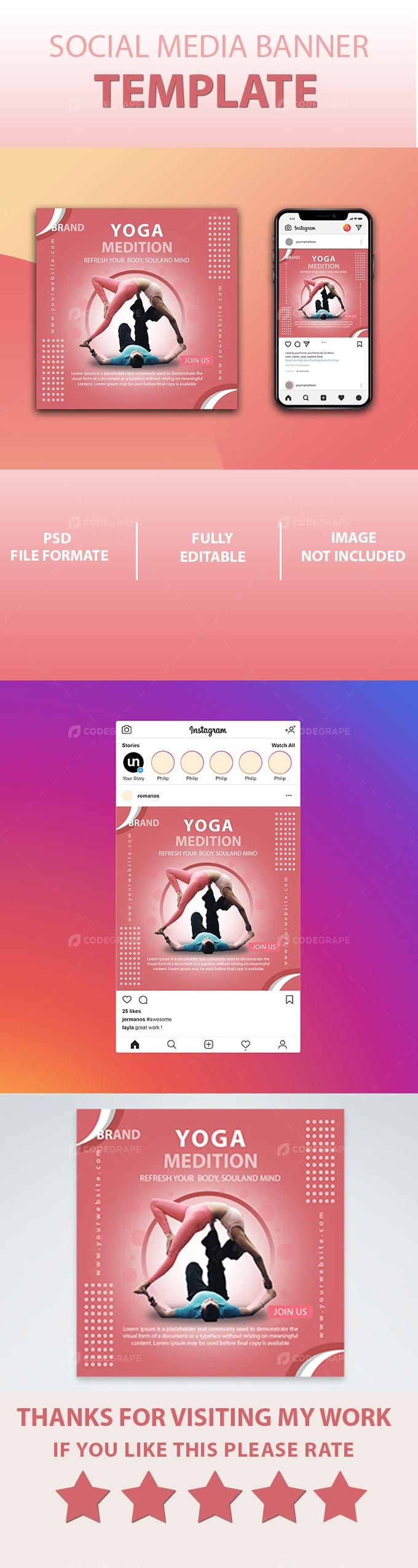 Yoga Social Media Post