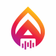 Alpha Media A Letter Logo