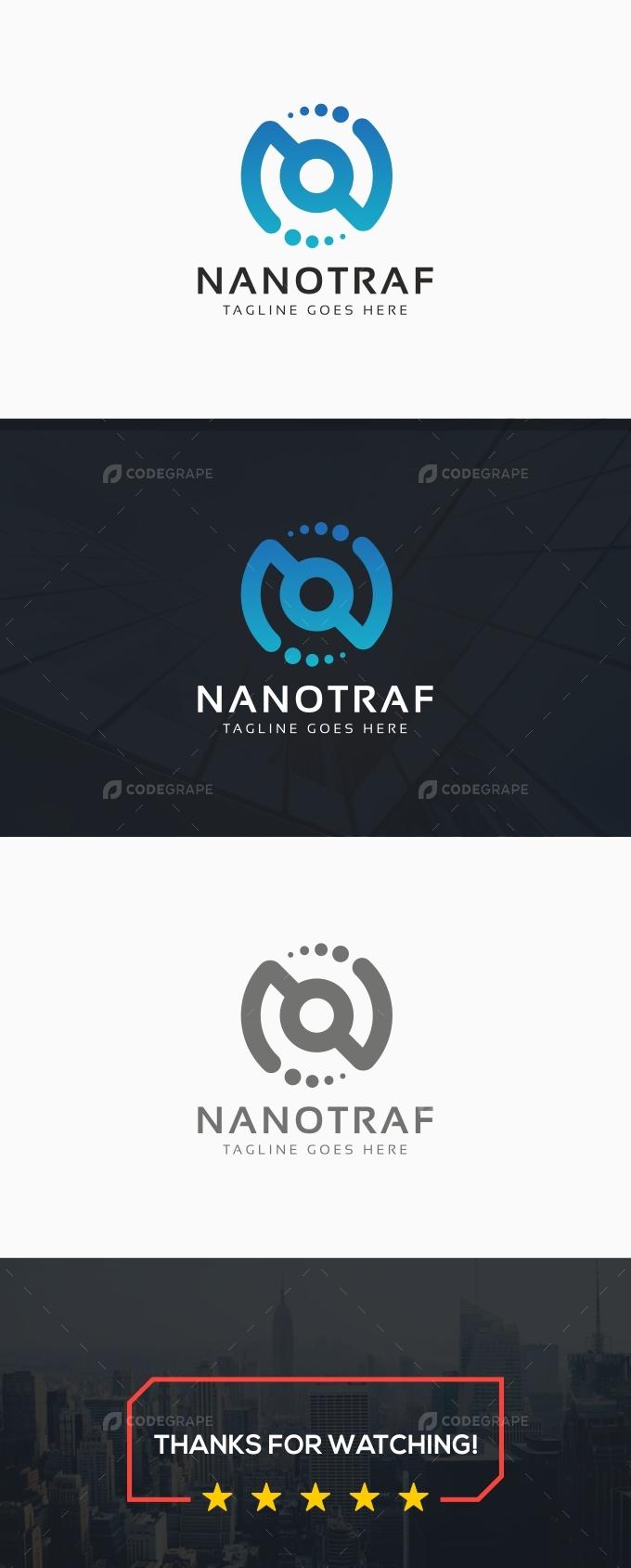 N Letter Circle Logo