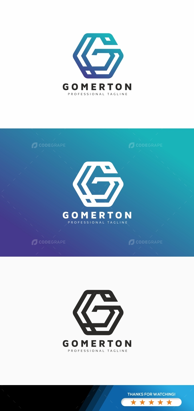 Hexagon G Letter Logo