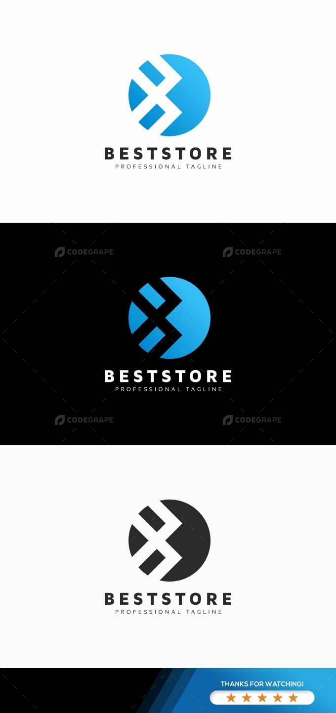 B Letter Arrows Logo