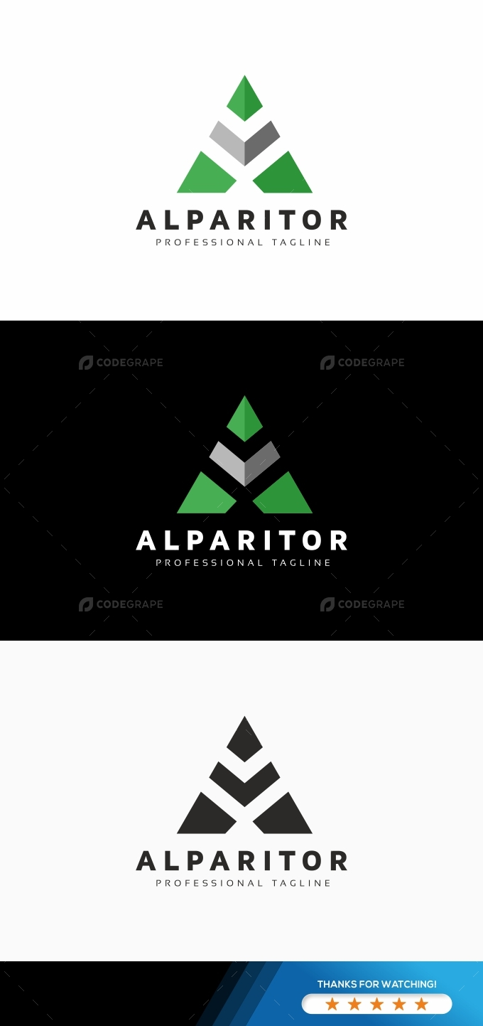 A Letter Check Logo