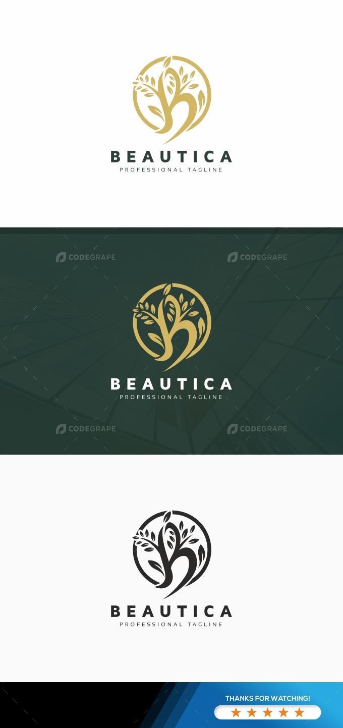 B Letter Nature Logo