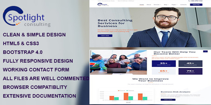 Spotlight - Business Consulting Services HTML Template