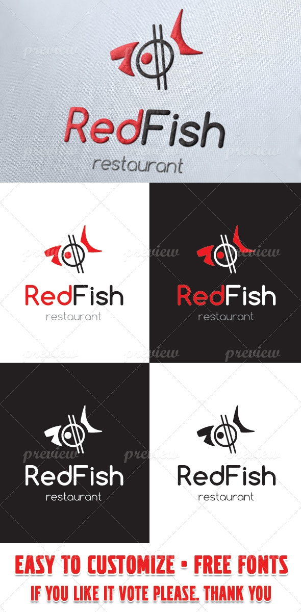 Red Fish Sushi Restaurant Logo