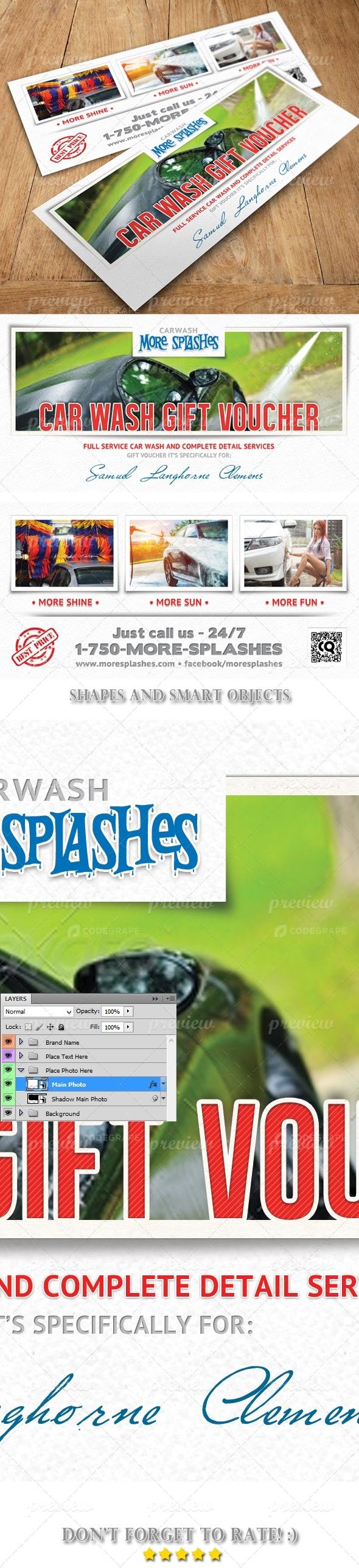 Car Wash Voucher Template