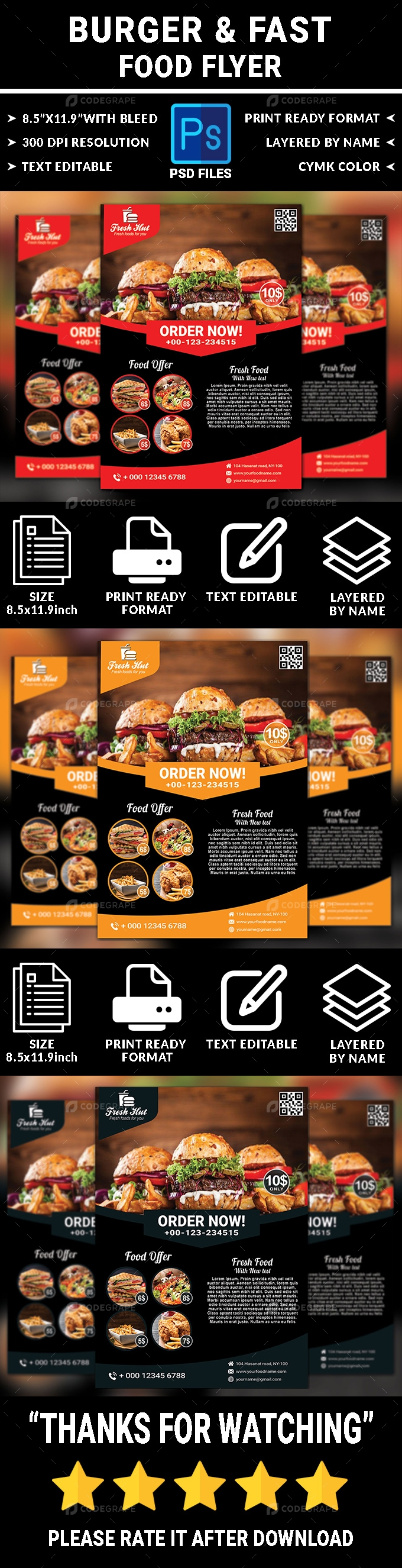 Burger and Food Flyer